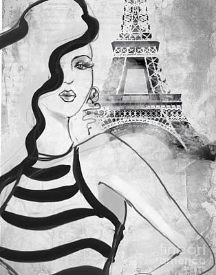 Paris Grey Poster by Jodi Pedri