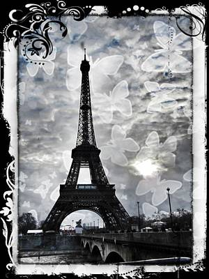 Black And White Paris Poster featuring the photograph Paris by Marianna Mills