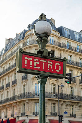 Paris Metro Poster by Mountain Dreams
