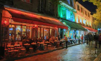 Paris Night Poster by Chris Armytage