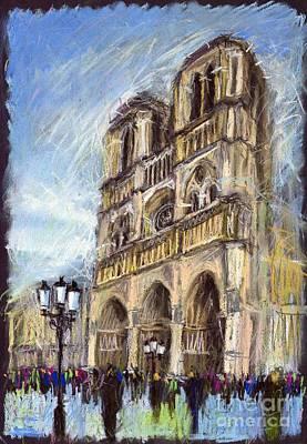 Paris Notre-dame De Paris Poster by Yuriy  Shevchuk