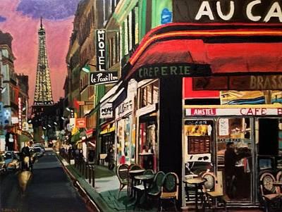 Paris Ville Lumiere Poster by Maurice BELLOLO