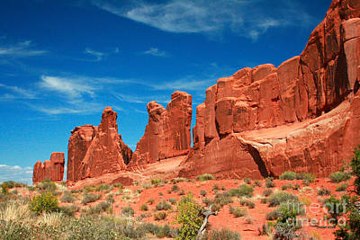 Park Avenue, Arches National Park Poster by Corey Ford