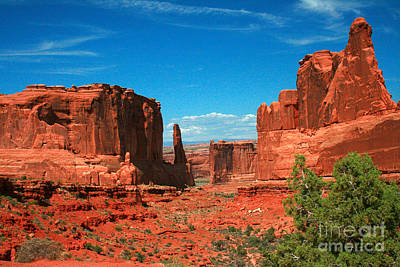 Park Avenue Section Arches National Park Moab Utah Poster by Corey Ford