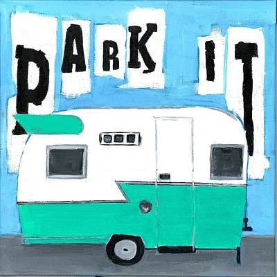 Park It-aqua Poster by Debbie Brown