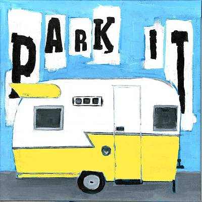 Park It-yellow Poster by Debbie Brown