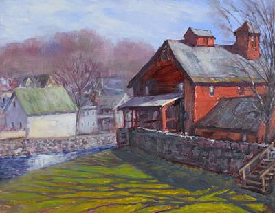 Parker Mill In April Poster by Ken Fiery