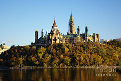 Parliament Hill In Ottawa, Canada Poster by Scimat