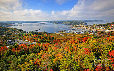 Parry Sound Harbour In Autumn Poster by Charline Xia