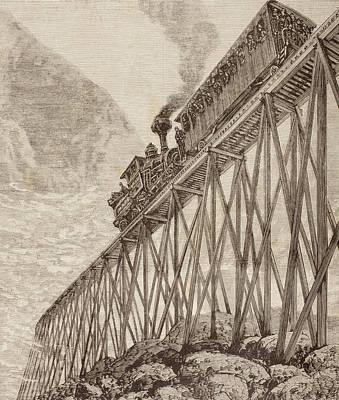 Part Of A Four Kilometre Long Railway Poster by Vintage Design Pics