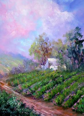 Paso Vineyard Poster by Sally Seago