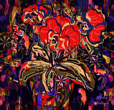 Passion Flowers Bouquet Poster by Natalie Holland