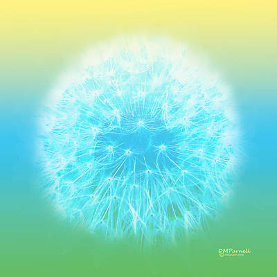 Pastel Dandelion Poster by Diane Parnell