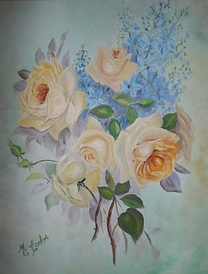 Pastel Roses Poster by Marcelo Carlos