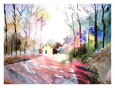 Path In Colors Poster by Anil Nene