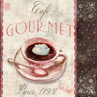 Patisserie Cafe Gourmet Coffee Poster by Mindy Sommers