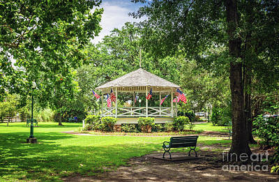 Patriotic Gazebo Poster by Joan McCool
