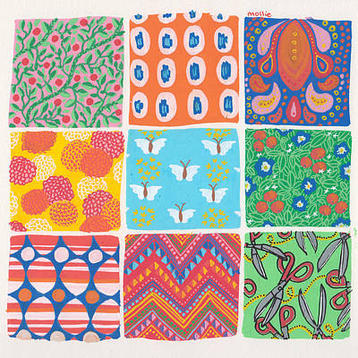 Pattern Panel Poster by Mollie Draws