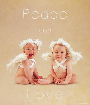 Peace And Love Poster by Anne Geddes