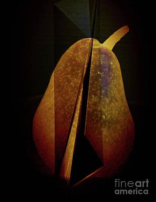 Pear Poster by Elena Nosyreva
