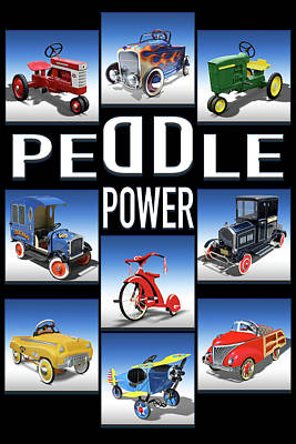 Peddle Power Poster by Mike McGlothlen
