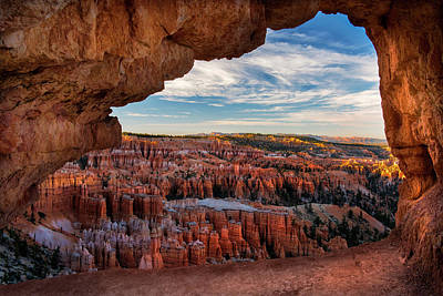 Peekaboo Window - Bryce Canyon Poster by Thomas Schoeller