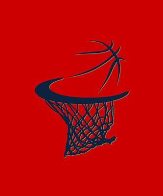 Pelicans Basketball Hoop Poster by Joe Hamilton