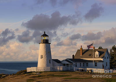 Pemaquid Morning Poster by Jerry Fornarotto
