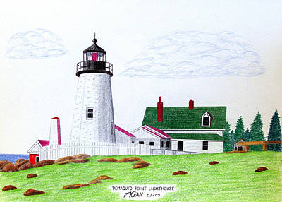 Pemaquid Point Lighthouse Poster by Frederic Kohli
