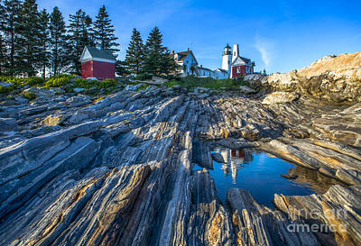 Pemaquid Point Lighthouse Maine Poster by Diane Diederich