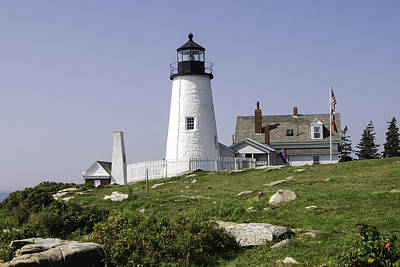 Pemaquid Point Lighthouse Poster by Phyllis Taylor