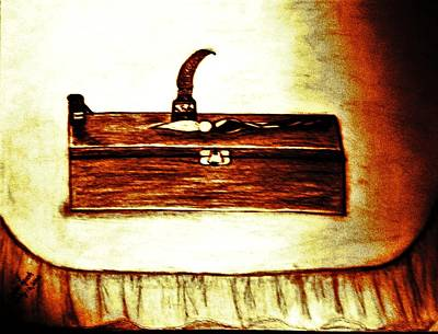 Pencil Box And Ink Well Poster by Debra Lynch