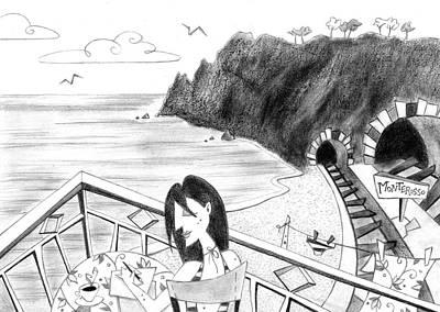 Pencil Drawing - Cartoon Illustration Poster by Arte Venezia
