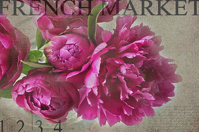 Peonies Poster by Rebecca Cozart