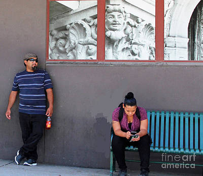 People Watching Poster by Joe Jake Pratt