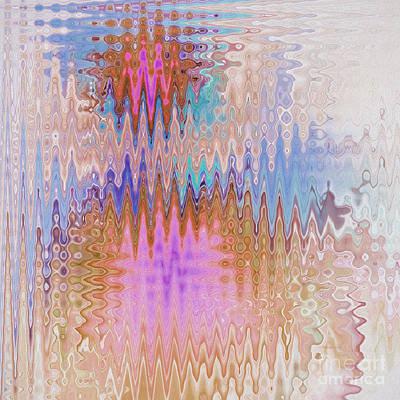Peppermint Abstract Poster by Deborah Benoit