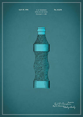 Pepsi Cola Bottle Patent 1930 Poster by Mark Rogan