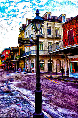 Pere Antoine Alley - New Orleans Poster by Bill Cannon