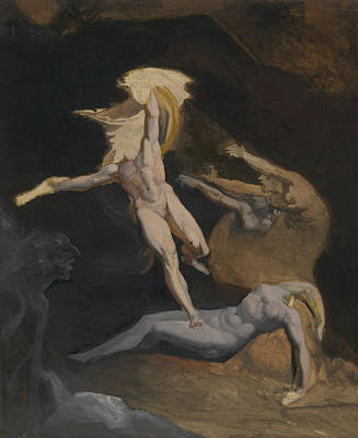 Perseus Slaying The Medusa Poster by Henry Fuseli