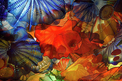 Persian Ceiling Colorful Glass Art Of Dale Chihuly At The Rom To Poster by Reimar Gaertner