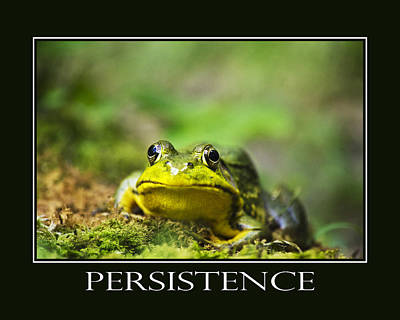 Persistence Inspirational Motivational Poster Art Poster by Christina Rollo