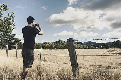 Person Taking Photograph Of A Tasmanian Landscape Poster by Jorgo Photography - Wall Art Gallery