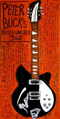 Peter Buck Rickenbacker Poster by Karl Haglund