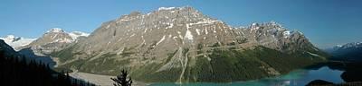 Peyto Lake Panorama Poster by Dave Belcher