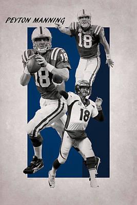 Peyton Manning Broncos Colts Poster by Joe Hamilton