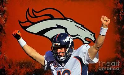 Peyton Manning Denver Broncos Poster by John Malone
