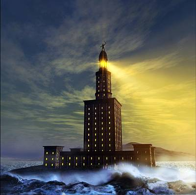 Pharos Lighthouse Of Alexandria, Artwork Poster by Studio Macbeth