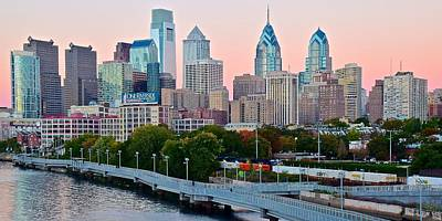 Philadelphia At Sundown Poster by Frozen in Time Fine Art Photography
