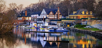 Philadelphia - Boathouse Row On The Schuylkill River Poster by Bill Cannon