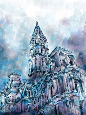 Philadelphia City Hall Poster by Bekim Art